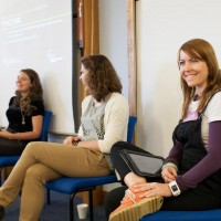 Panellists Luci Black, Dr. Sarah Dargie, Timea Tabori and Dr. Jo Twist