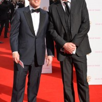 Stars of Would I Lie to You? Rob Brydon and Lee Mack arrive at the red carpet