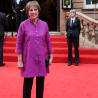 Penelope Wilton outside Richmond Theatre where the BAFTA Downton Abbey Tribute event took place.