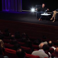 BAFTA and Oscar nominated screenwriter Peter Morgan talks with an audience about his works including The Queen and Frost/Nixon. (Photography: Jay Brooks)