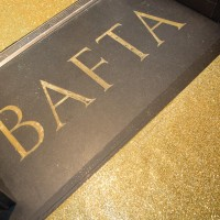 BAFTA 195's entrance decked out with a sparkling gold carpet