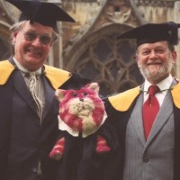 Oliver Postgate and Peter Firmin with Bagpuss
