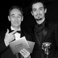 Mark Rylance with Damien Chazelle, BAFTA-winning director of La La Land