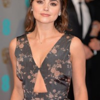 Jenna Coleman wows on the red carpet. Her make-up is styled by Lancôme.