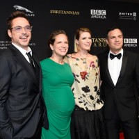 (L-R)  Honoree Robert Downey Jr., producer Susan Downey, actress Sunrise Coigney, and honoree Mark Ruffalo