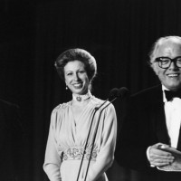The director collects a BAFTA from Princess Anne at the British Academy Film Awards in 1983. His historical epic Gandhi picked up five awards on the night.