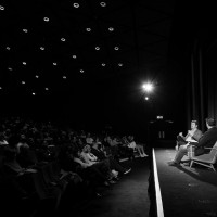 The audience listened to Willimon discuss his work on House of Cards and his approach to writing.