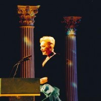 Sian Phillips presenting at the 1995 BAFTA Cymru Awards.