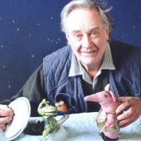 Oliver Postgate with The Clangers