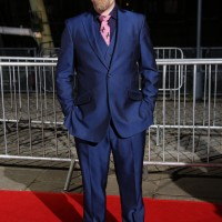 Ceremony host Rufus Hound looking dapper on the red carpet