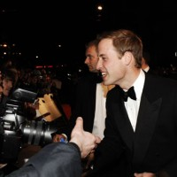 HRH Prince William talks to film fans on the Orange British Academy Film Awards red carpet (BAFTA/Richard Kendal).