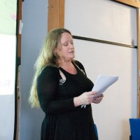 Luci Black delivering her keynote speech