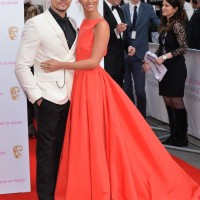 Louis Smith and Lucy Meck strike a pose on the red carpet
