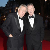 Special Award recipient Terry Jones with Michael Palin