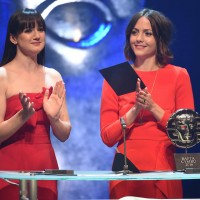 Sara Lloyd Gregory and Catrin Stewart present the Short Film award