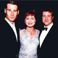 1997 BAFTA Cymru Awards presenters, Tim Vincent, Sian Lloyd and Michael Ball.