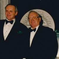 Sir Anthony Hopkins presented Sir Harry Secombe CBE, with the BAFTA Special Award for Outstanding Contribution to Television, 1993.