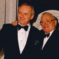 Sir Anthony Hopkins and Welsh comedian Sir Harry Secombe, CBE at the 1993 BAFTA Cymru Awards Ceremony.