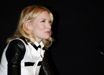 Cate Blanchett on stage at an Academy Life in Pictures event.