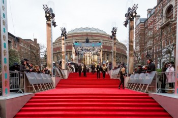 Event: EE British Academy Film AwardsDate: Sun 12th February 2017Venue: Royal Albert Hall, LondonHost: Stephen Fry-Area: BRANDING & SET UP