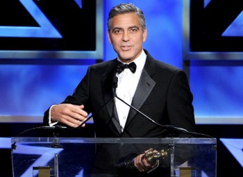 Actor and filmmaker George Clooney was honoured with the Stanley Kubrick Britannia Award for Excellence in Film