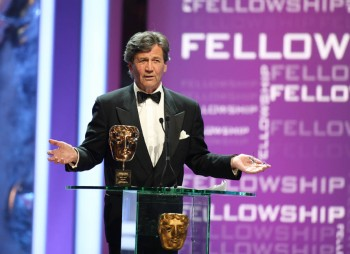 Melvyn Bragg accepts the Academy's highest honour, the fellowship.