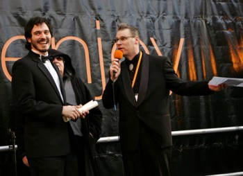 Mark Kermode Presents the 2007 Orange 60 Seconds of Fame Award to Alex Garcia for 'Happy Birthday Grand dad'