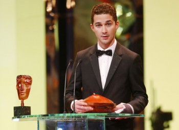 Last year's Orange Rising Star Award winner Shia Labeouf returns to present the Award in 2009 (BAFTA / Marc Hoberman).