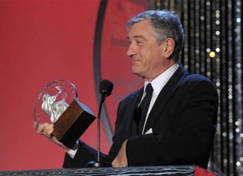 Robert De Niro receives the Stanley Kubrick Britannia Award for Excellence in Film