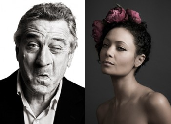 Thandie Newton & Robert De Niro photographed by Andy Gotts.