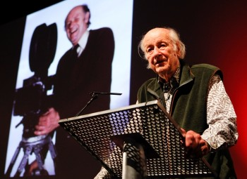 Ray Harryhausen accepting his Special BAFTA Award for a Unique and Outstanding Contribution to Cinema (BAFTA/Brian J Ritchie).