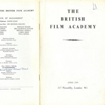 BFA Publication, April 1948