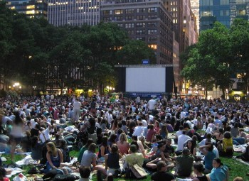 Bryant Park Movie Screening.