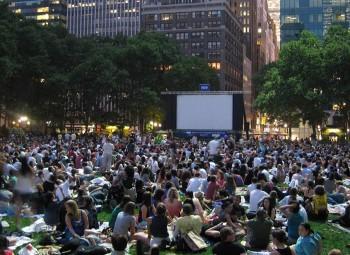Bryant Park Movie Screening.