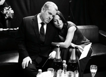 Chris Moyles and Davina McCall backstage at the 2009 BAFTA Television Awards.