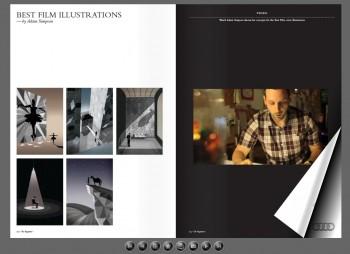 Film Awards eMag spread: Adam Simpson discusses his Best Film illustrations