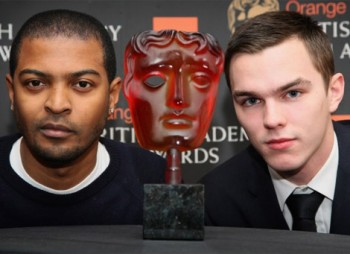 Orange Rising Star Award Nominee Nicholas Hoult with the 2009 winner, Noel Clarke.
