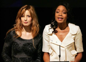 Kelly Reilly and Naomie Harris announce the nominations for the Orange British Academy Film Awards in 2008.