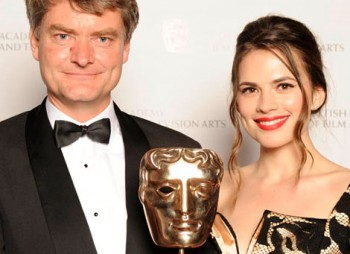 BBC Productions: Bristol, winner of the Photography Factual Award for Yellowstone (Winter) with actress Hayley Atwell