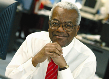 In the early eighties, Sir Trevor conducted the most important television interviews of the era including an interview with Nelson Mandela following his release from prison. (Pic: ITV)