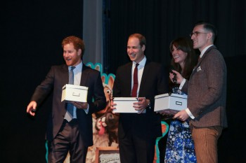 Event: Meeting of Charities ForumDate: Monday 26th OctoberVenue: 195 PiccadillyAttended by the Duke and Duchess of Cambridge and HRH Prince Harry.Hosted by BAFTA and Aardman