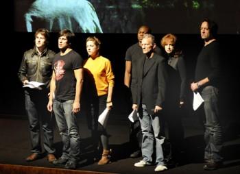 Actors performing at BAFTA/ROCLIFFE New Writing Forum
