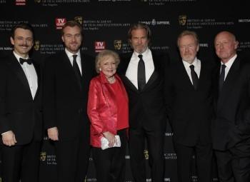 The honorees of the 2010 Britannia Awards: Michael Sheen, Christopher Nolan, Betty White, Jeff Bridges, Ridley Scott and Tony Scott.