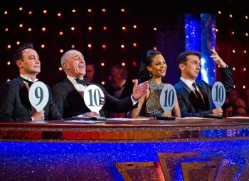 Strictly Come Dancing judges; Craig Revel Horwood, Len Goodman, Alesha Dixon and Bruno Tonioli