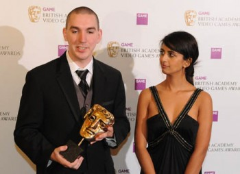 Blue Peter Presenter Konnie Huq presented the Gameplay Award to Robert Bowling for Call of Duty 4: Modern Warfare (BAFTA / James Kennedy).