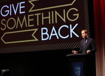 HRH The Duke of Cambridge delivers a speech to mark the launch of BAFTA's Give Something Back campaign