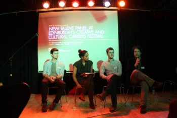 Event: New Talent panel at Edinburgh's Creative and Cultural Careers FestivalAttendance: Michael Crumley, Ansgar Hockh and Connor MeechanHosted:  Claudia Yusef -  Scottish Film Talent NetworkDate: Monday 2 March 2015 Venue: Edinburgh Collage of A