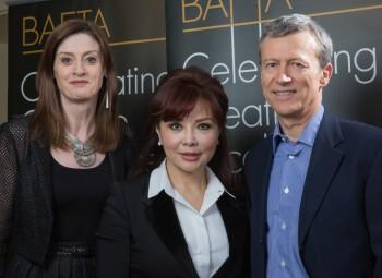 Amanda Berry, Katherine Yip and Duncan Kenworthy at the Peninsula Hong Kong.