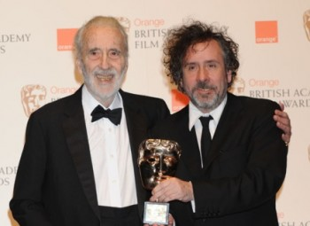 Lee was presented the Academy Fellowship by filmmaker Tim Burton. (Pic: BAFTA/Richard Kendal)