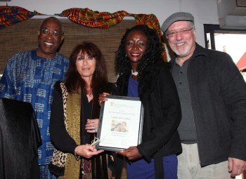 Ayuko Babu (founder of PAFF), Katy Haber, Leila Djansi and David L. Simon.